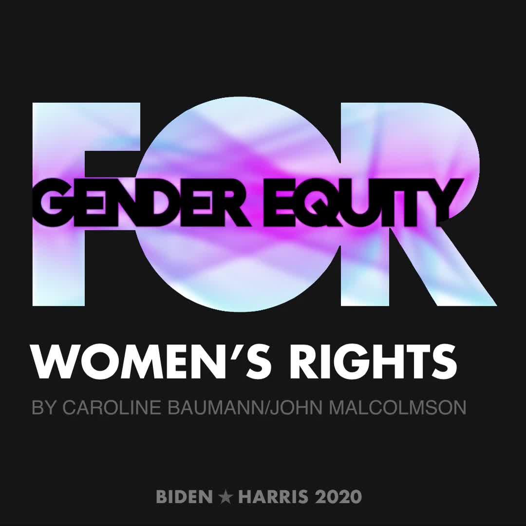 CreativesForBiden.org - Women's Rights artwork by Caroline Baumann/John Malcolmson