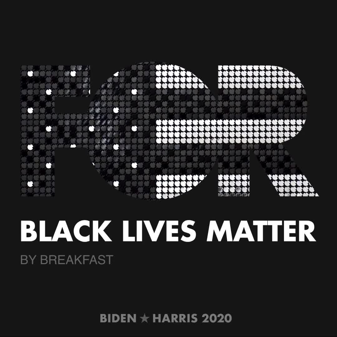 CreativesForBiden.org - Black Lives Matter artwork by BREAKFAST