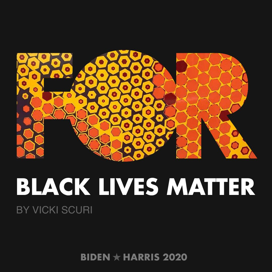 CreativesForBiden.org - Black Lives Matter artwork by Vicki Scuri