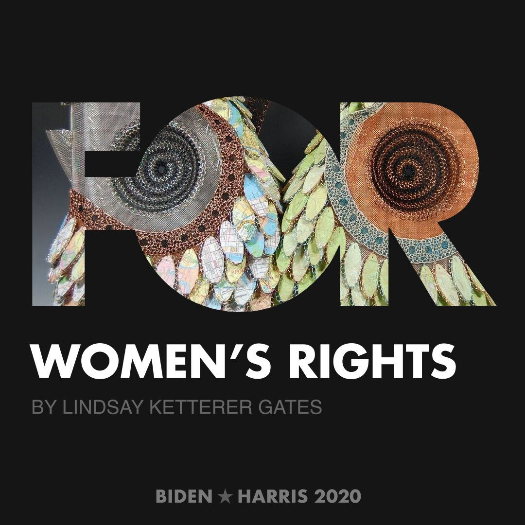 CreativesForBiden.org - Women's Rights artwork by Lindsay Ketterer Gates
