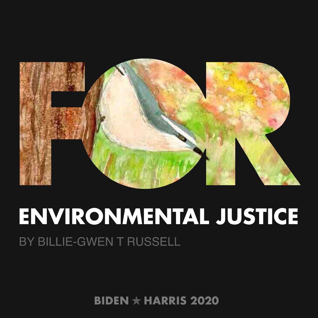 CreativesForBiden.org - Environmental Justice artwork by Billie-Gwen T Russell