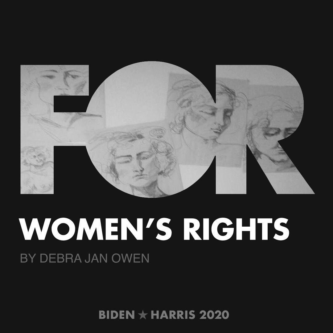 CreativesForBiden.org - Women's Rights artwork by Debra Jan Owen