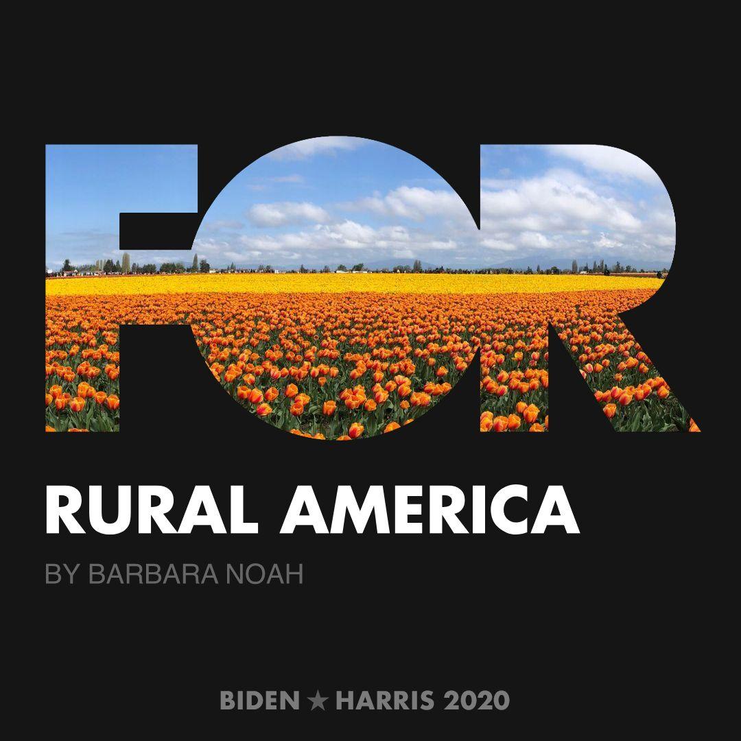 CreativesForBiden.org - Rural America artwork by Barbara Noah