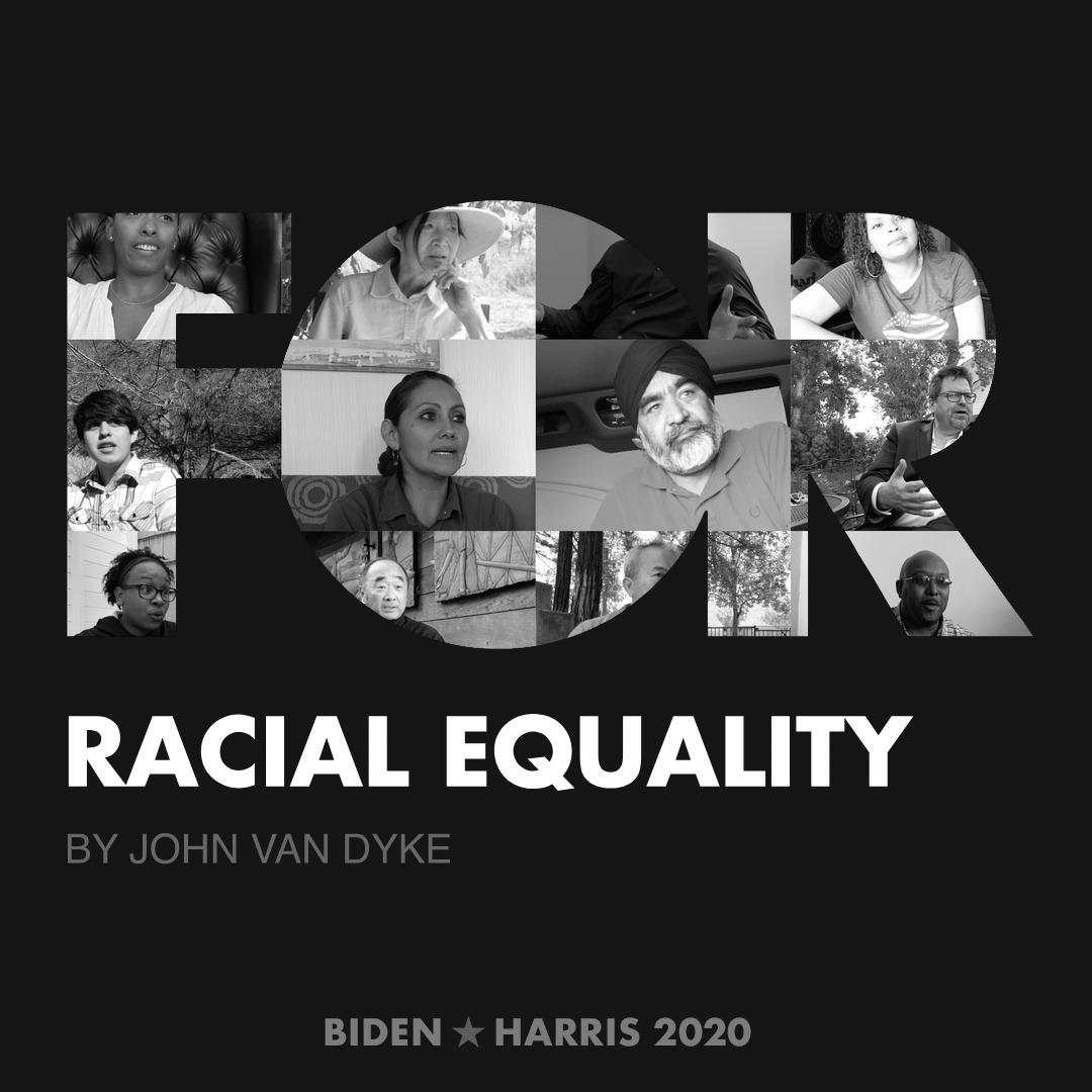 CreativesForBiden.org - Racial Equality artwork by John Van Dyke