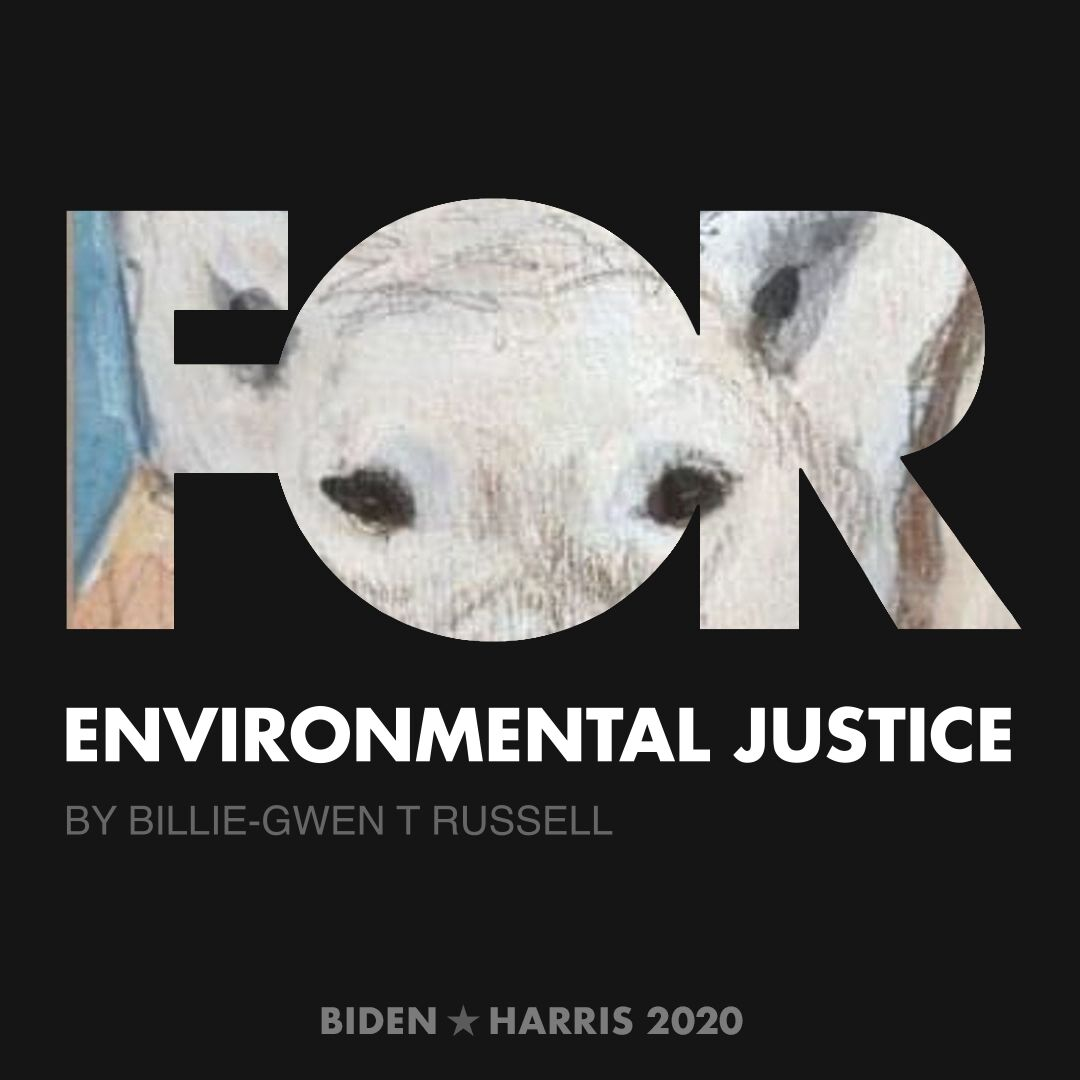 CreativesForBiden.org - Environmental Justice artwork by Billie-Gwen T Russell