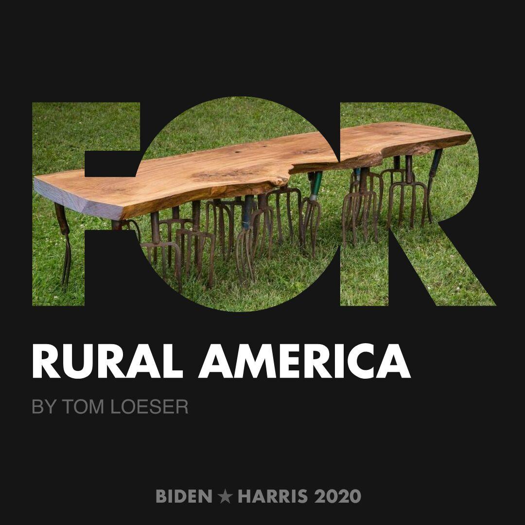 CreativesForBiden.org - Rural America artwork by Tom Loeser