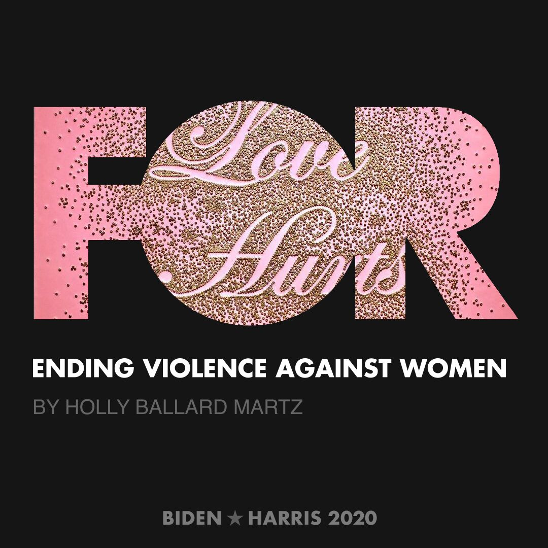 CreativesForBiden.org - Ending Violence Against Women artwork by Holly Ballard Martz